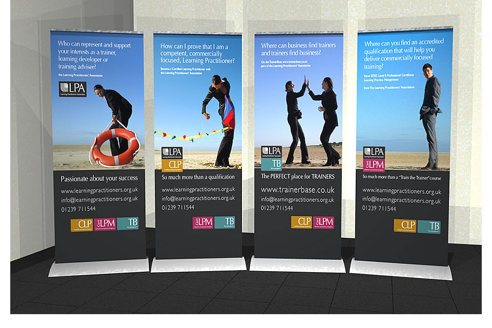 pull up banner stand design